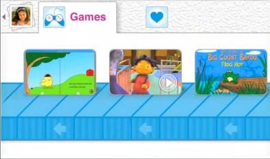 Selector de juegos en Kid Mode para Android