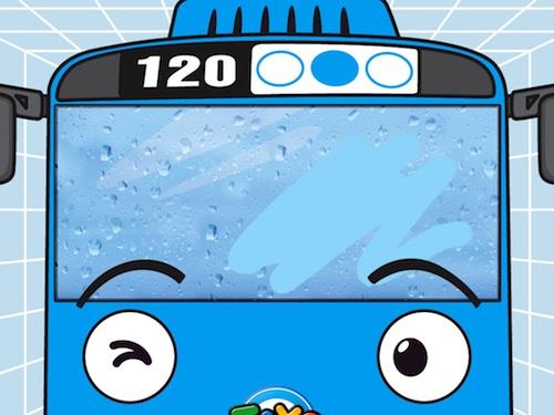 """Lavando el autobús en """"The little bus Tayo"""""""