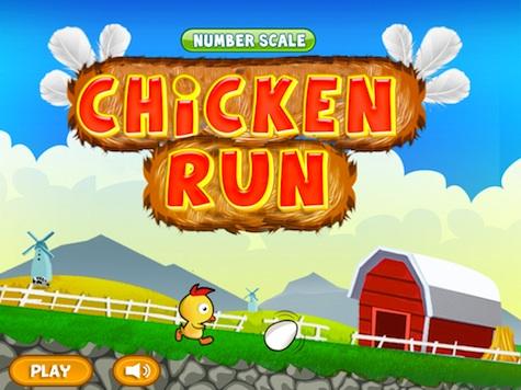 Chicken Run Number Line