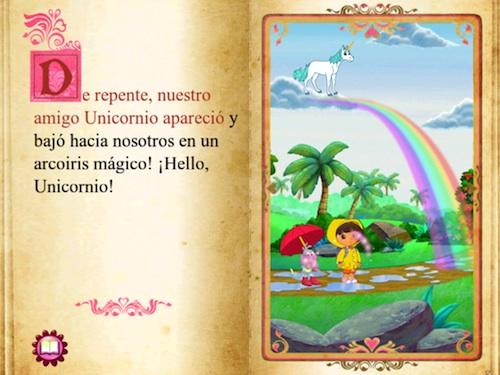 Dentro del libro de Dora en el busque encantado para iPad