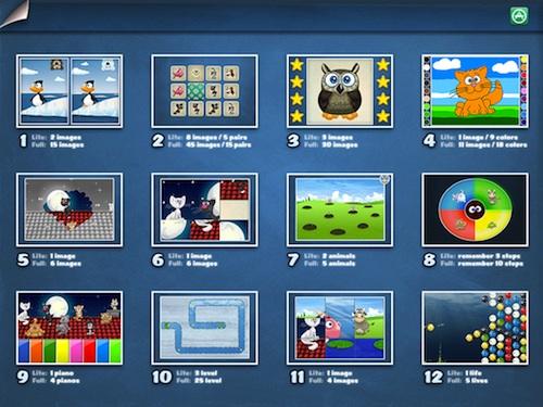 Parque infantil 1 reúne 12 juegos en una sóla app para iPad