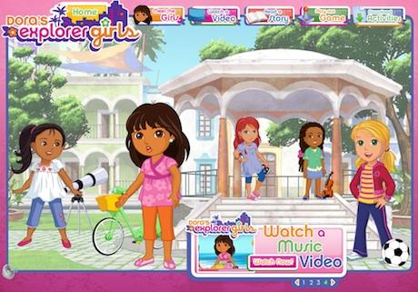 Página principal de Dora's Explorer Girls