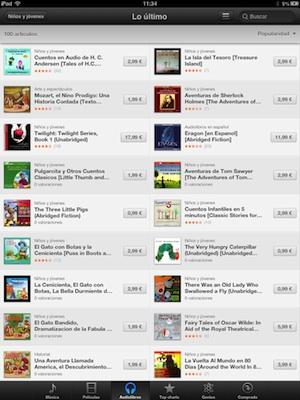 Audiocuentos en iTunes