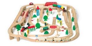 Circuito completo de trenes de madera para empezar