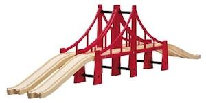 Puente colgante para circuitos de trenes