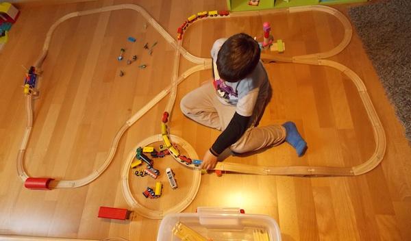 Uno de nuestros circuitos de trenes de madera