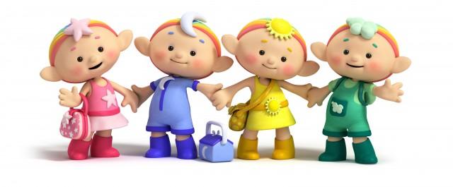 Los personajes de Cloudbabies